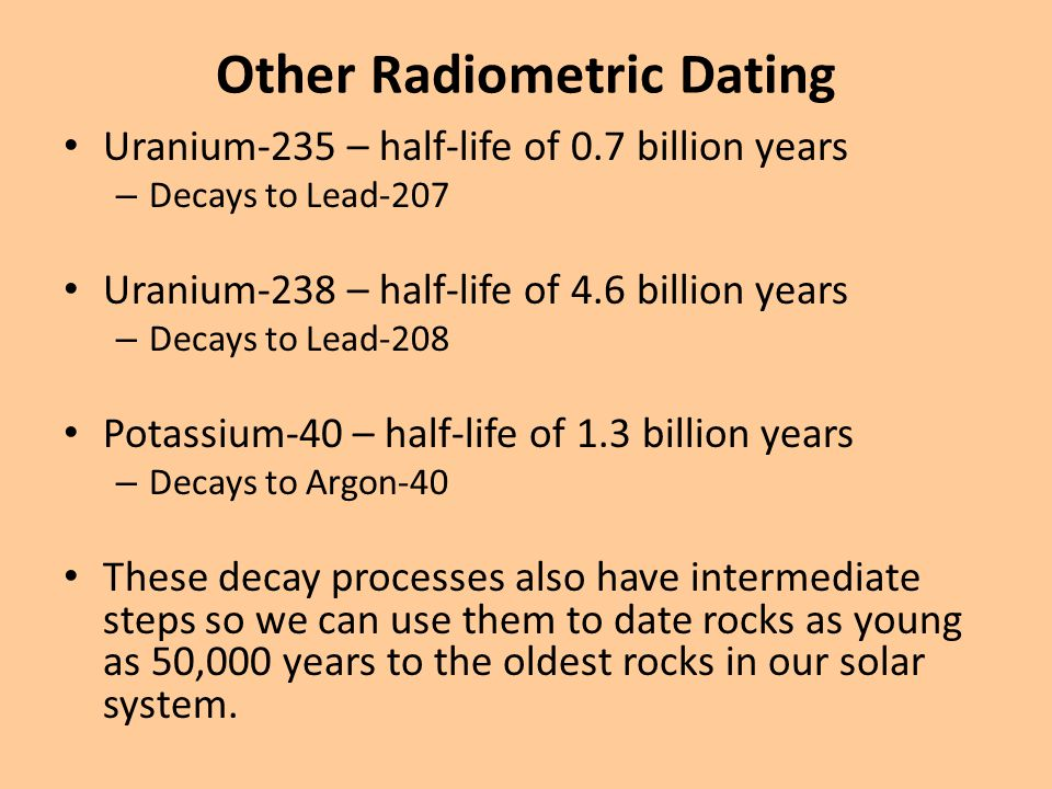 Other Radiometric Dating
