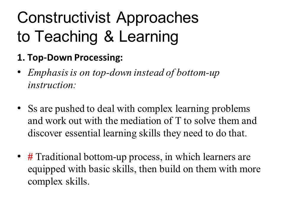 constructivism a holistic approach to teaching
