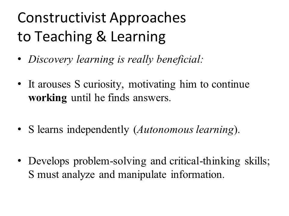 what is a constructivist approach to teaching pdf