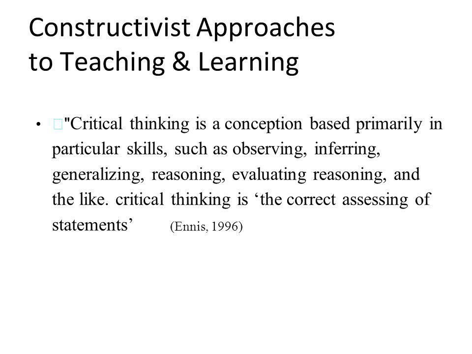 "ennis critical thinking a streamlined conception Writing and critical thinking course that is articulated to csu ge a3, and the c-id   (ennis, ""a super-streamlined conception of critical thinking"" (online)."