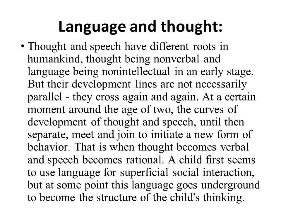 Language and thought: