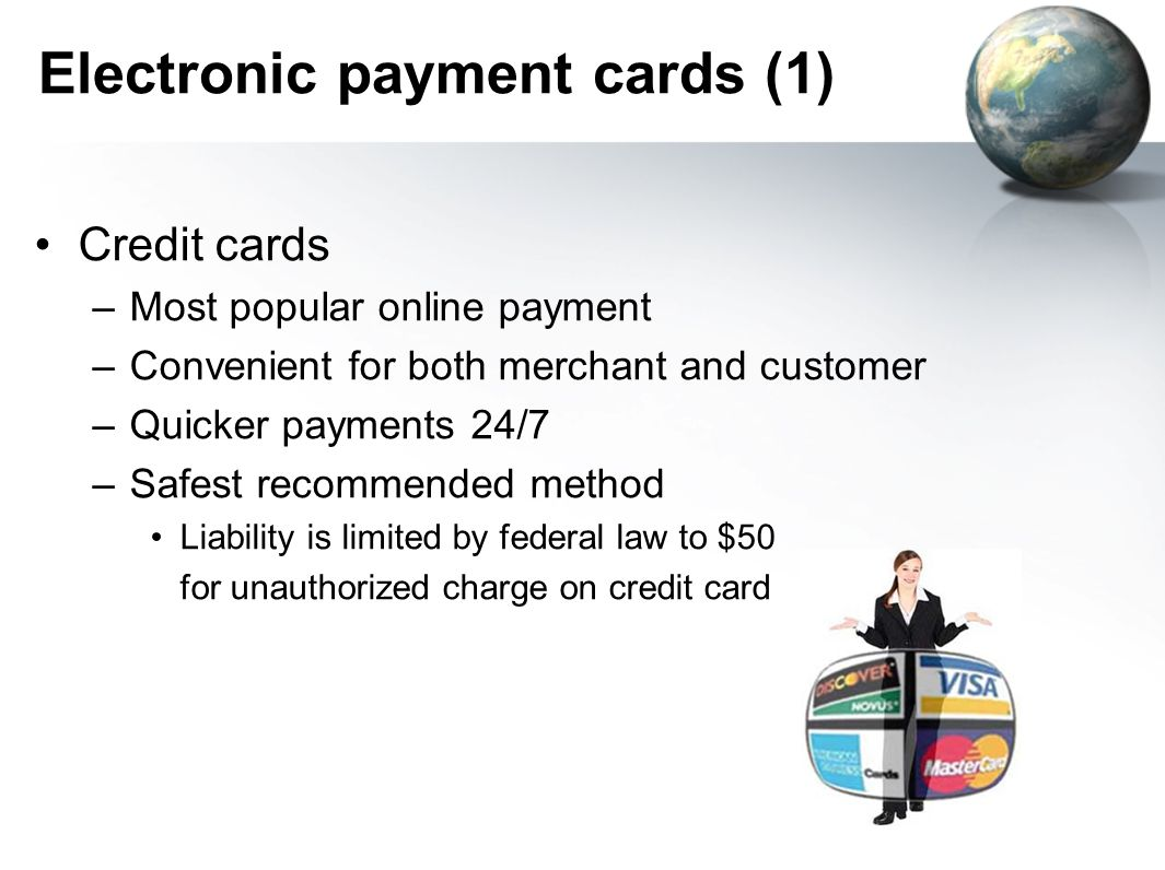 Electronic payment cards (1)