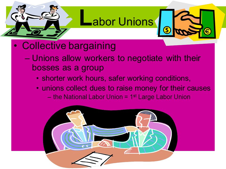 Labor Unions Collective bargaining