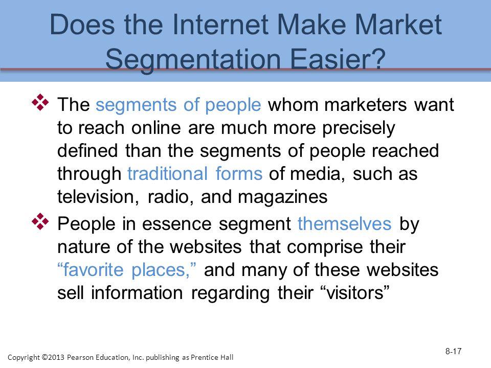 Does the Internet Make Market Segmentation Easier