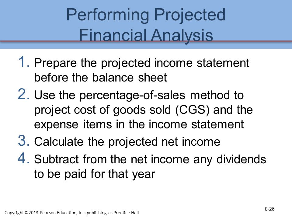 Performing Projected Financial Analysis