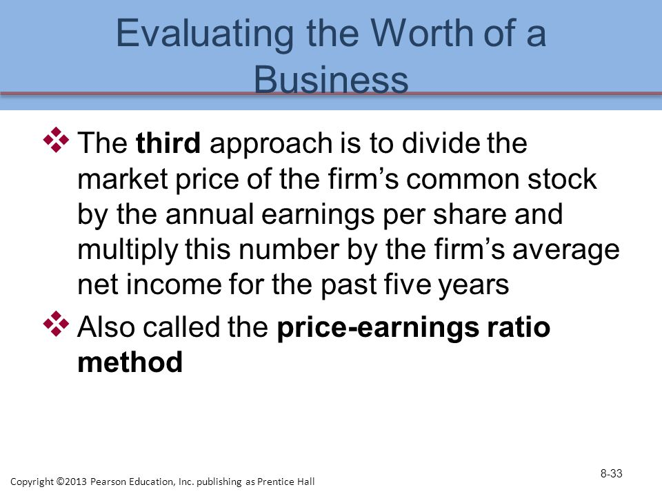 Evaluating the Worth of a Business