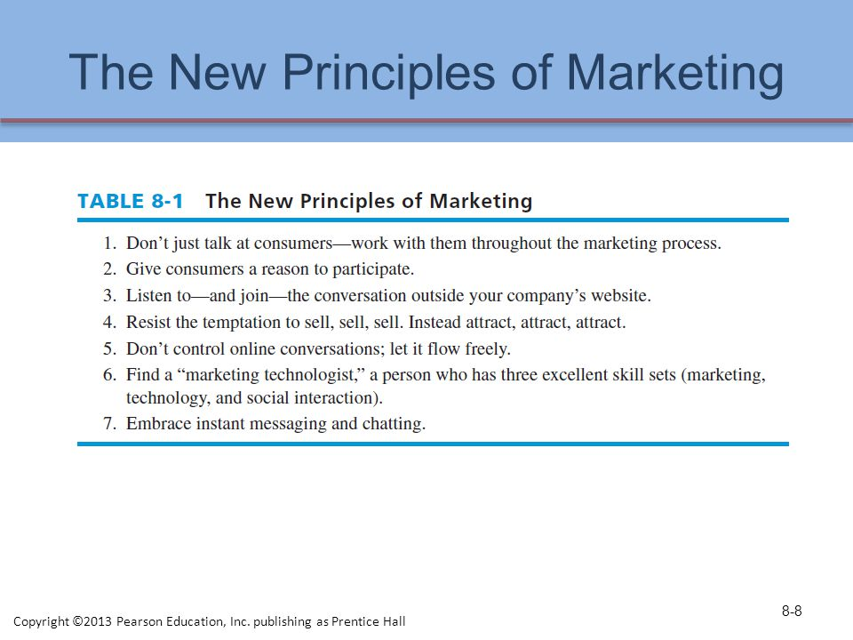 The New Principles of Marketing