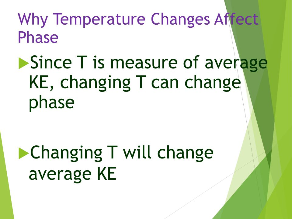 Why Temperature Changes Affect Phase
