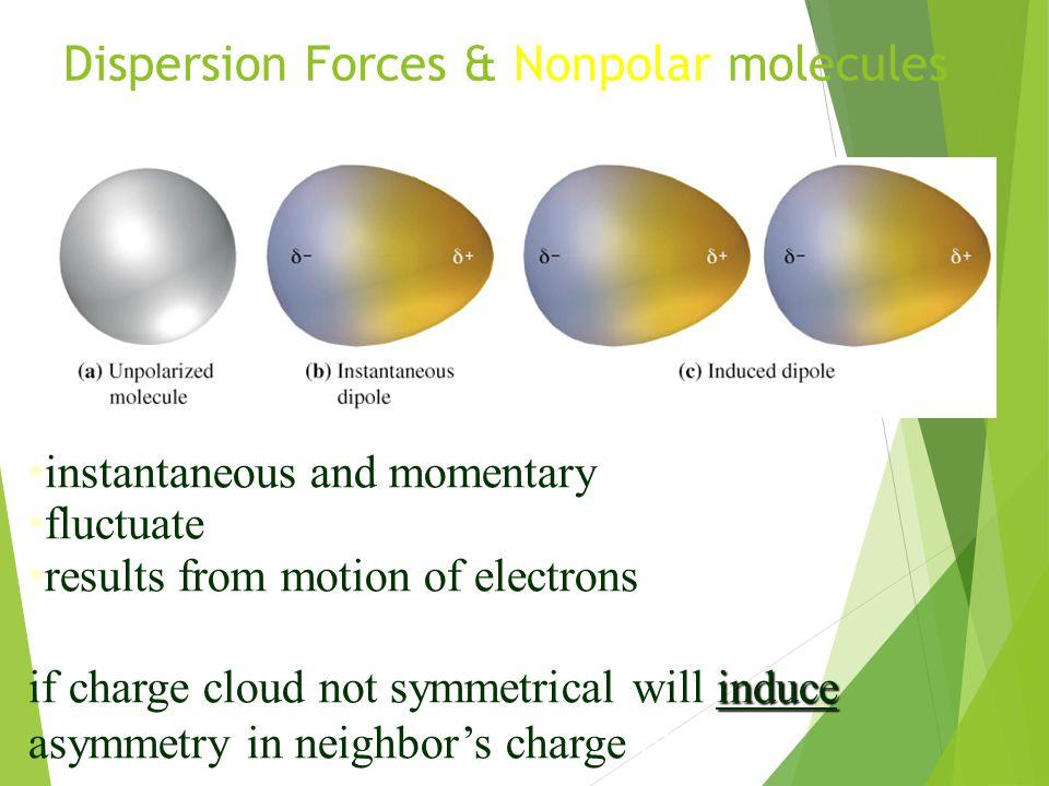 Dispersion Forces & Nonpolar molecules