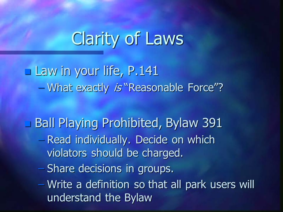 Clarity of Laws Law in your life, P.141