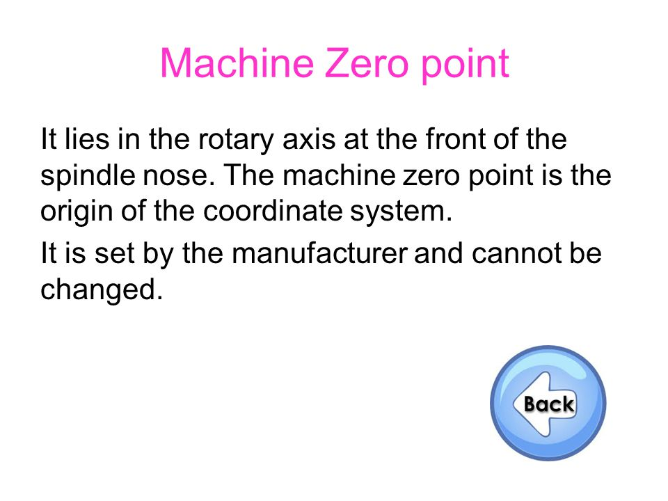 Machine Zero point