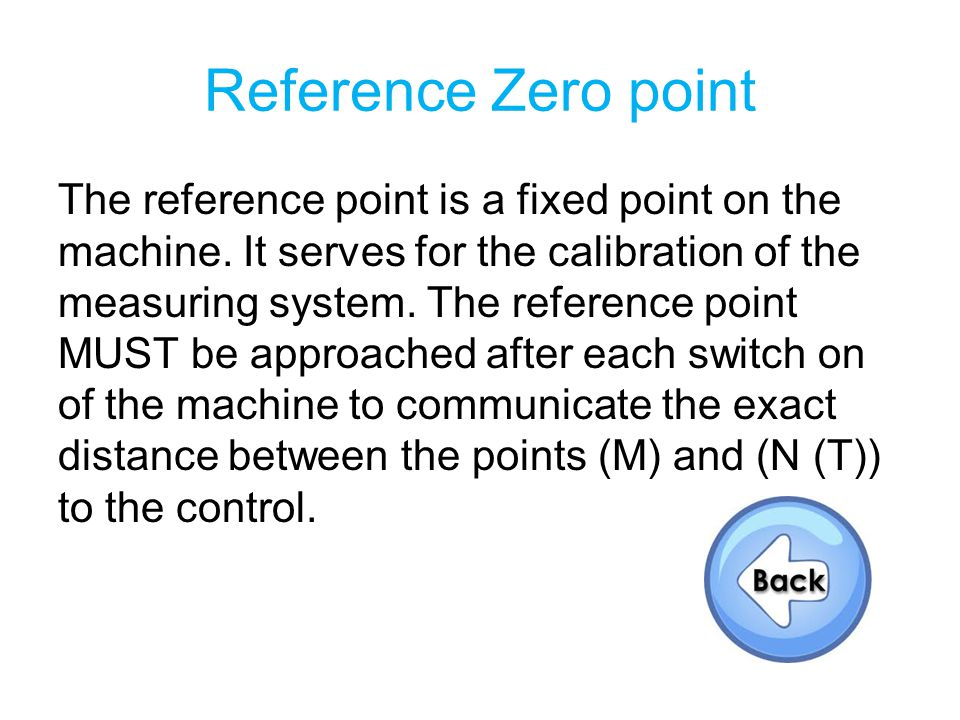 Reference Zero point