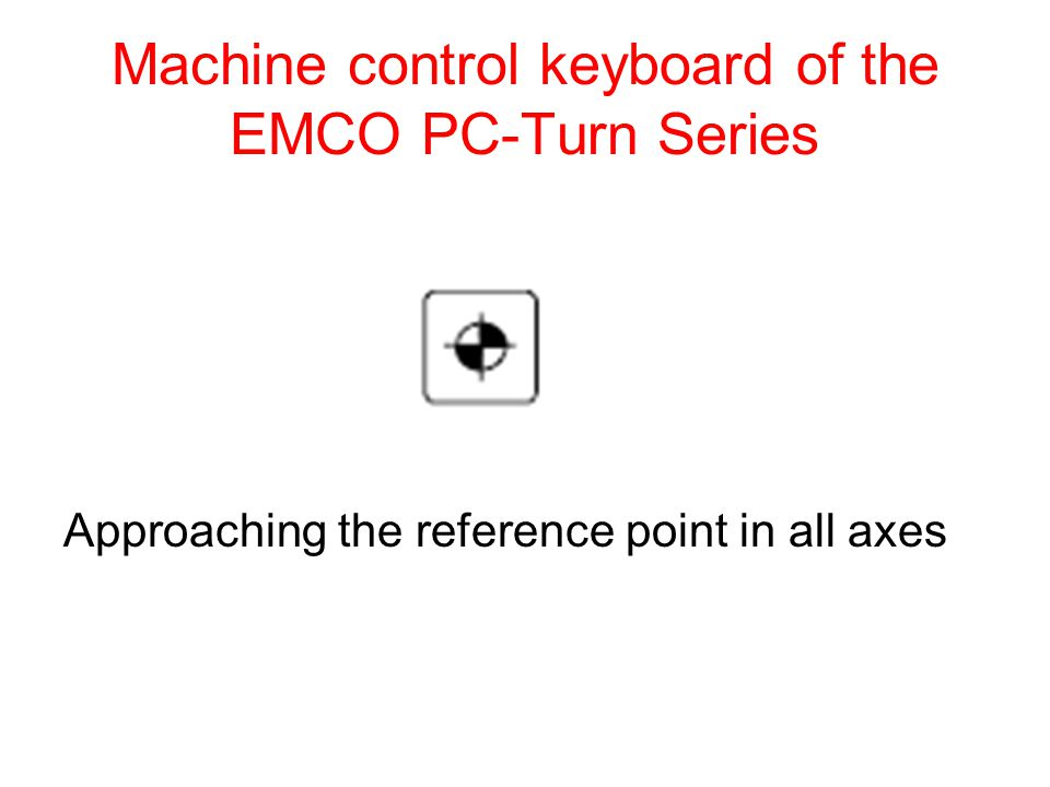Machine control keyboard of the EMCO PC-Turn Series