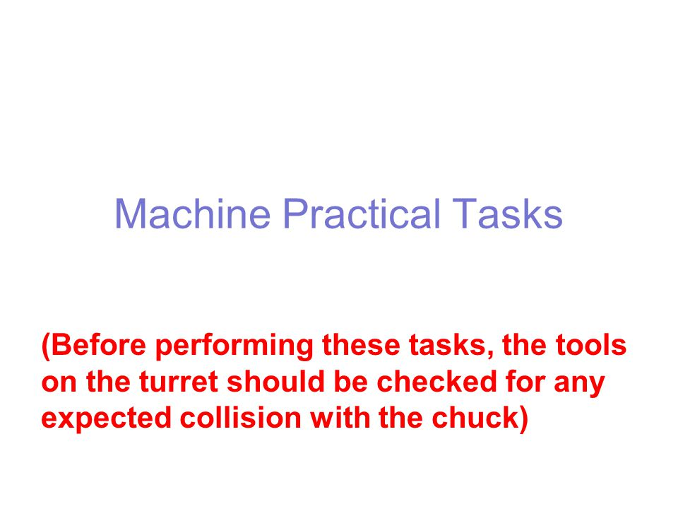 Machine Practical Tasks