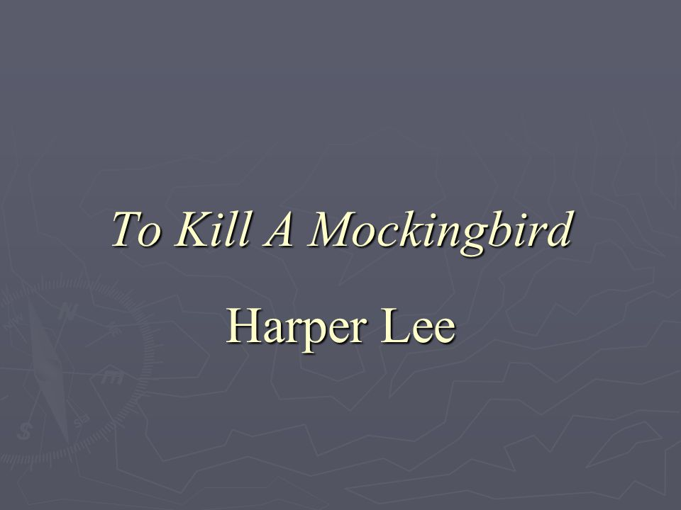The morale of the story to kill a mockingbird by harper lee