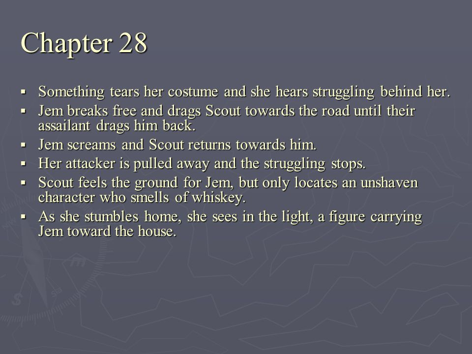 Chapter 28 Something tears her costume and she hears struggling behind her.
