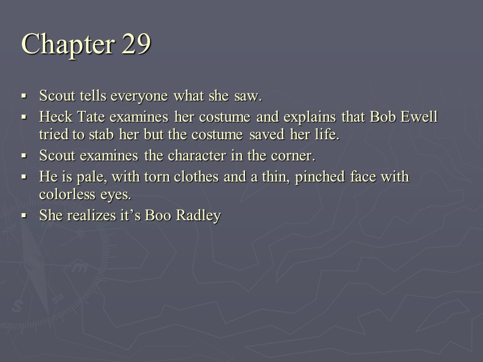 Chapter 29 Scout tells everyone what she saw.