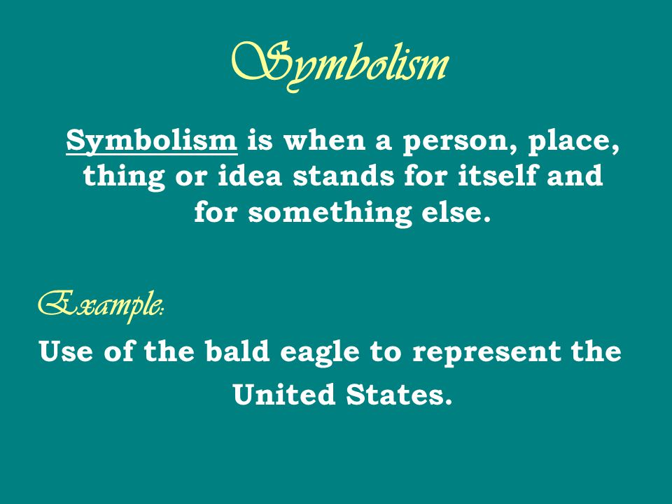 Use of the bald eagle to represent the United States.
