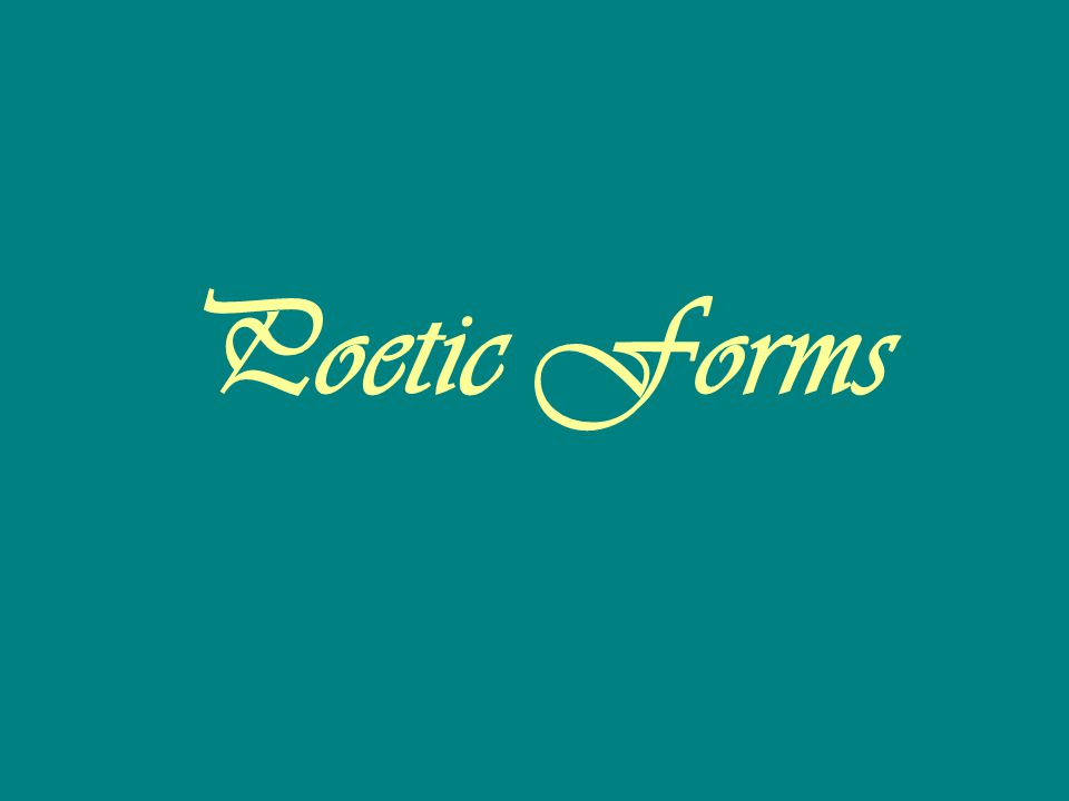 Poetic Forms