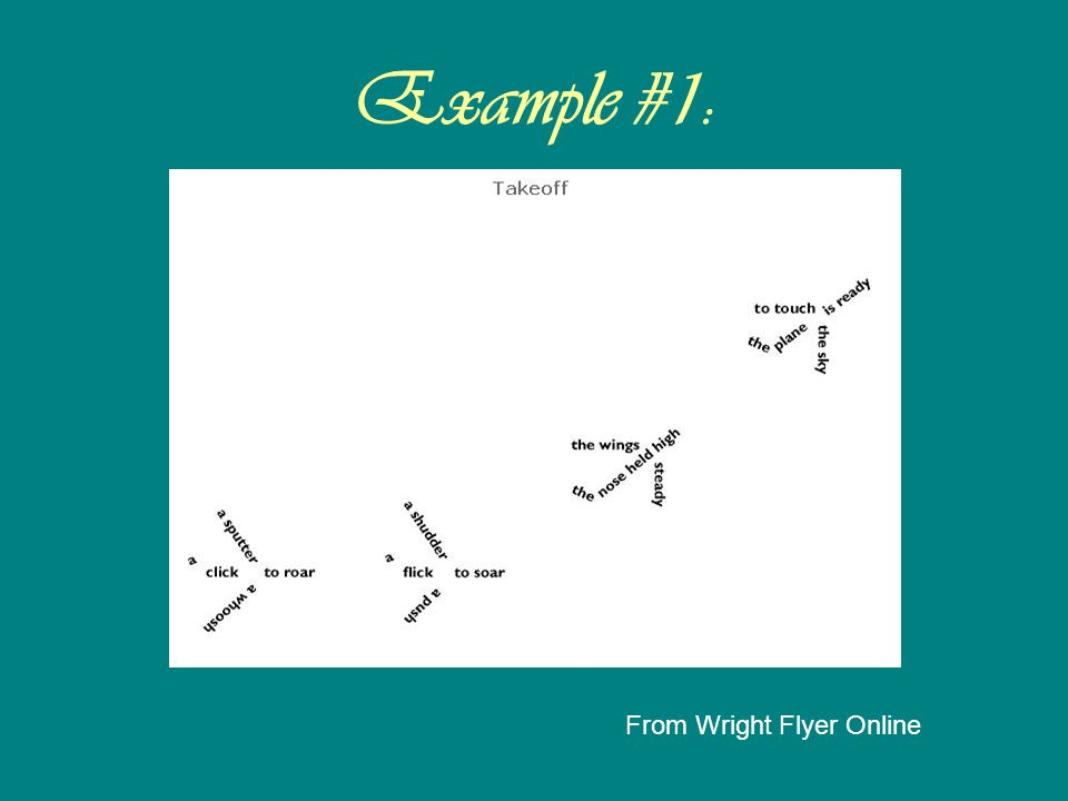 Example #1: From Wright Flyer Online
