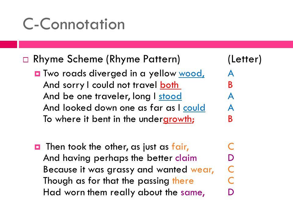C-Connotation Rhyme Scheme (Rhyme Pattern) (Letter)
