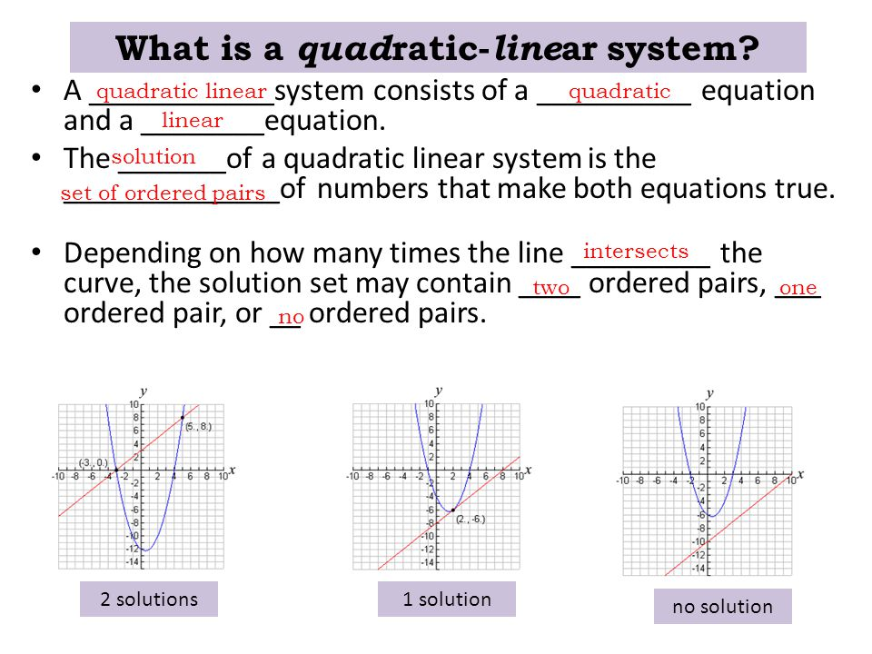 What is a quadratic-linear system