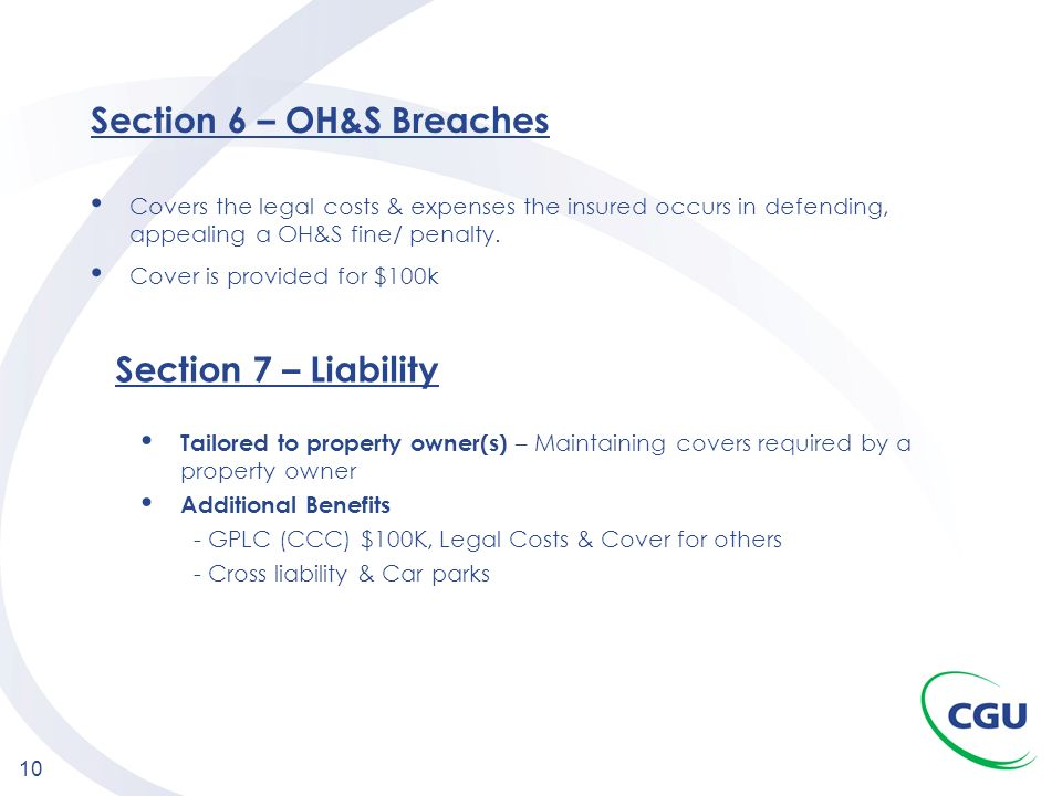 Section 6 – OH&S Breaches