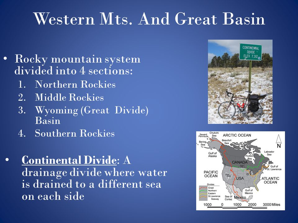 Western Mts. And Great Basin