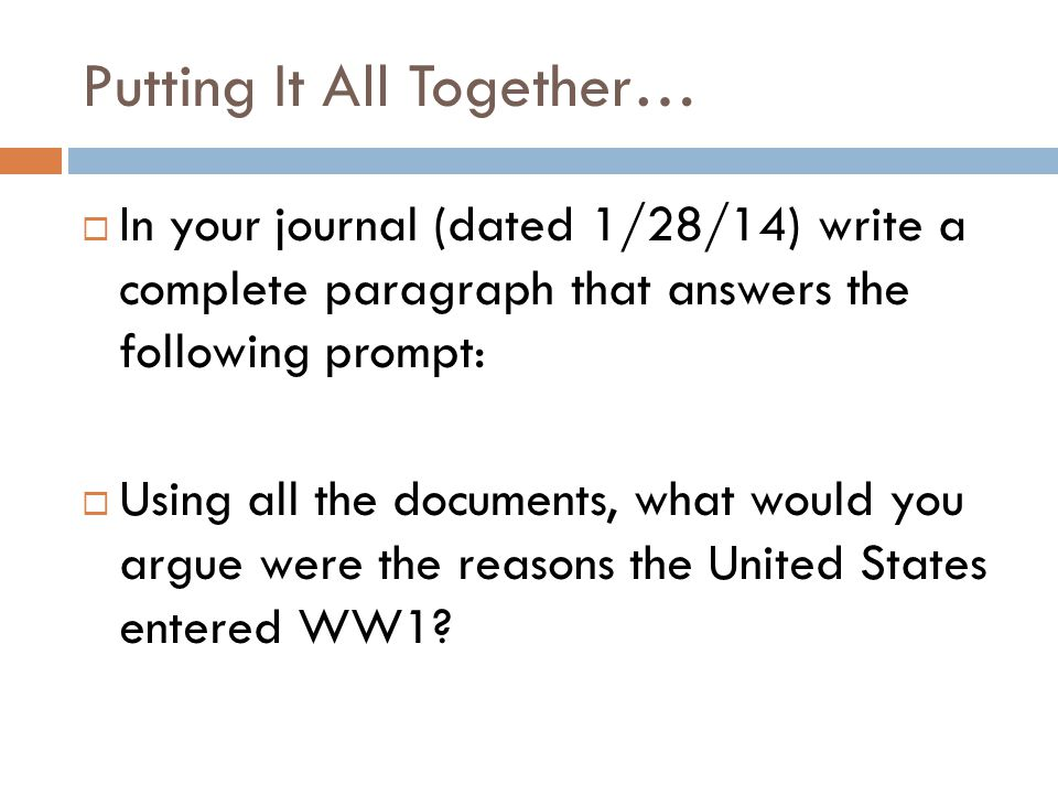 U.S. Entry into WWI US History - Ms. Meehan. - ppt download