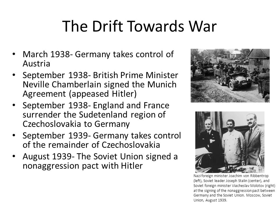 The Drift Towards War March 1938- Germany takes control of Austria