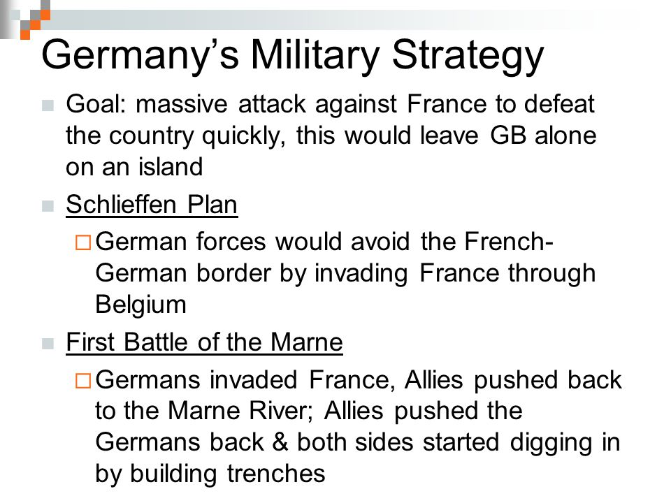 Germany's Military Strategy