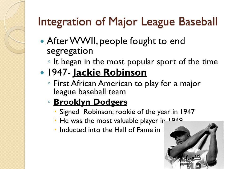 Integration of Major League Baseball