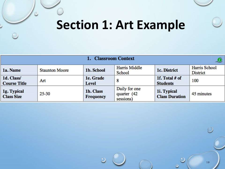Section 1: Art Example IMT Orientation Draft 02Sept11-CS