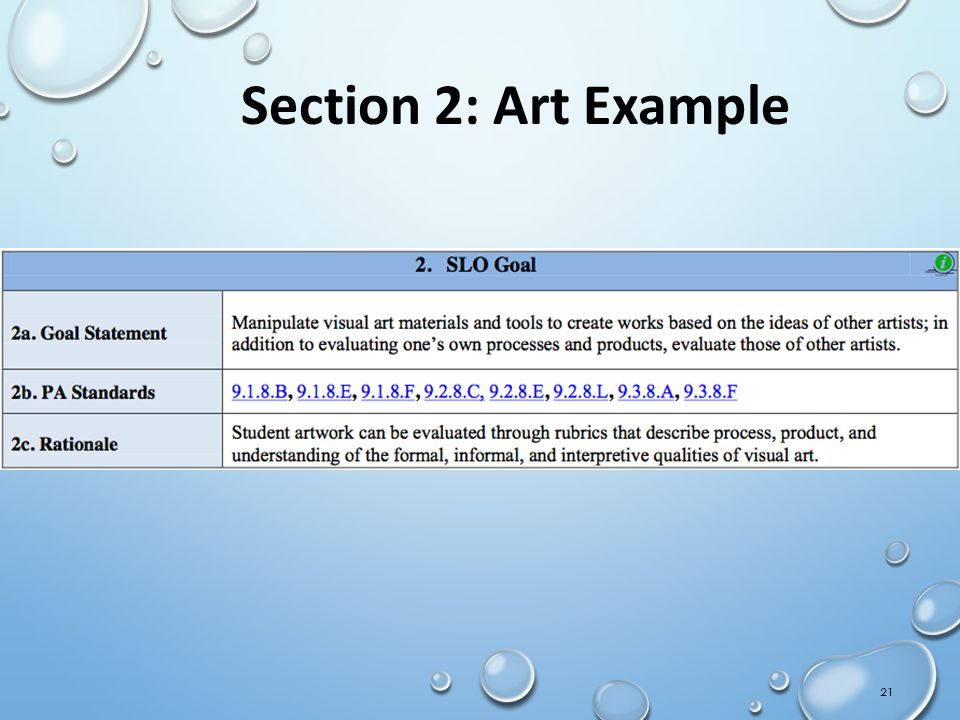 Section 2: Art Example IMT Orientation Draft 02Sept11-CS ** Handout
