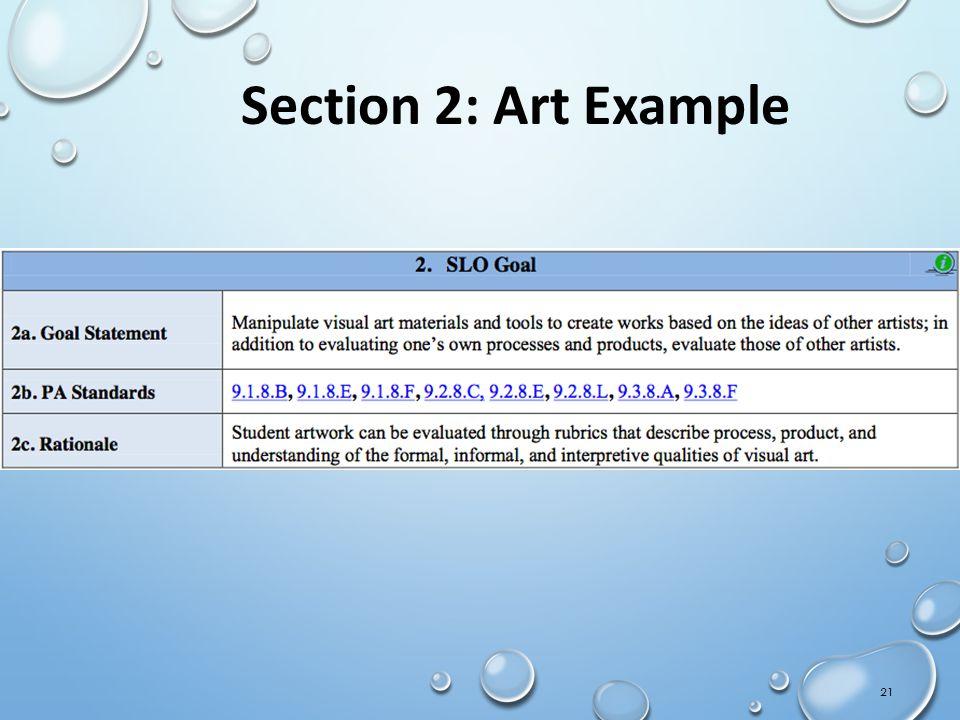 Section 2: Art Example IMT Orientation Draft 02Sept11-CS ** Handout