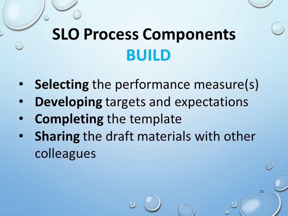 SLO Process Components BUILD