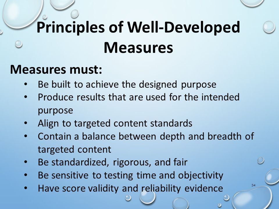 Principles of Well-Developed Measures