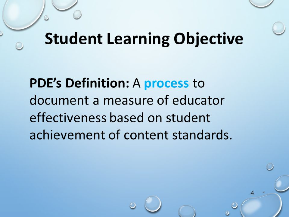 Student Learning Objective