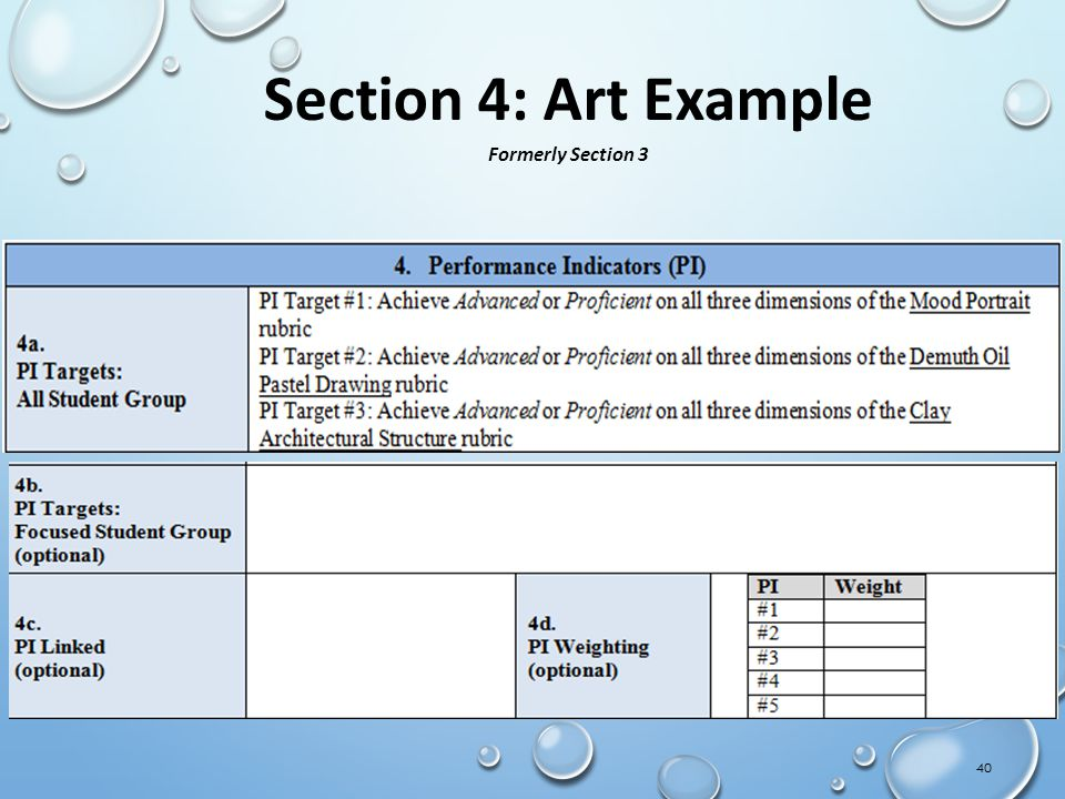 Section 4: Art Example Formerly Section 3