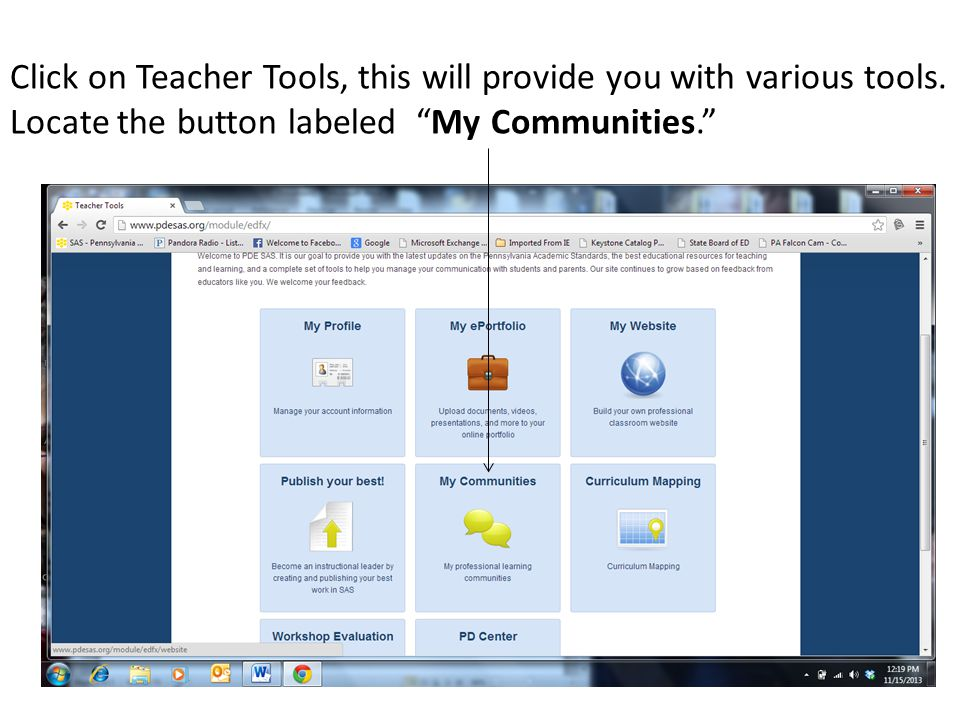 Click on Teacher Tools, this will provide you with various tools.