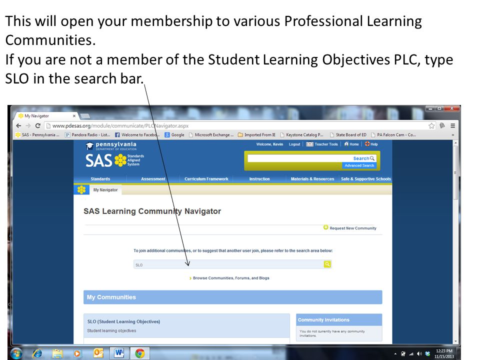 This will open your membership to various Professional Learning Communities.