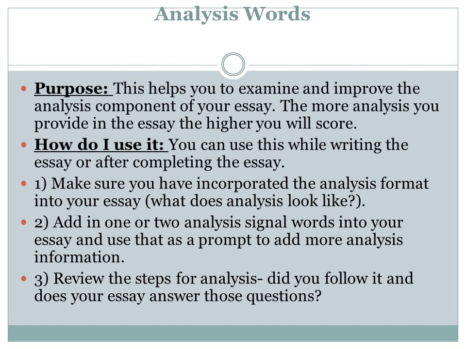 Analysis Words