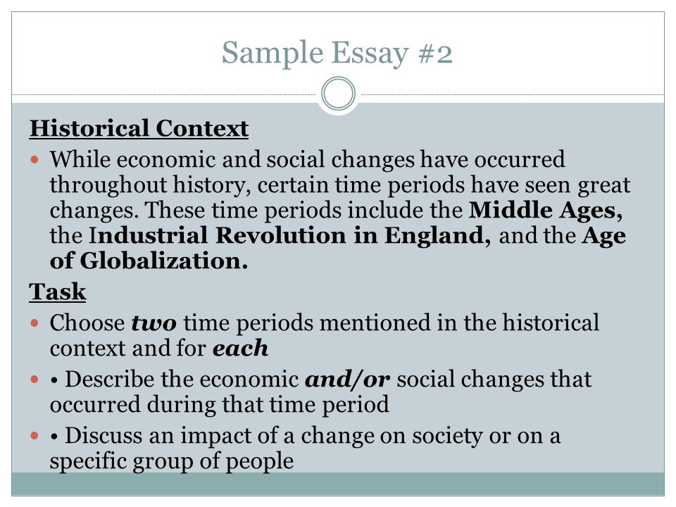 society changing essay