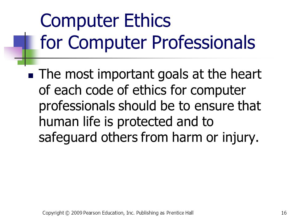 Computer Ethics for Computer Professionals