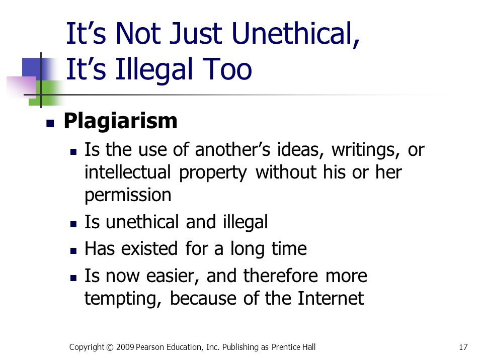 It's Not Just Unethical, It's Illegal Too