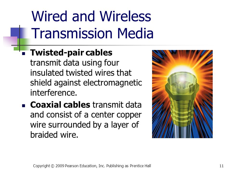 Wired and Wireless Transmission Media