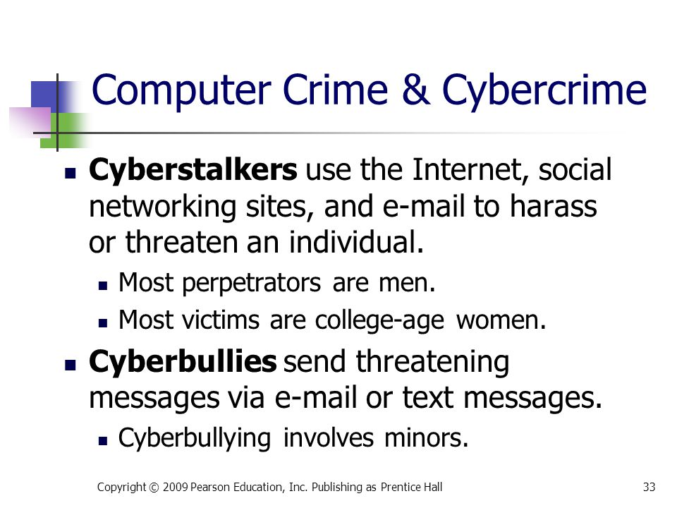 Computer Crime & Cybercrime