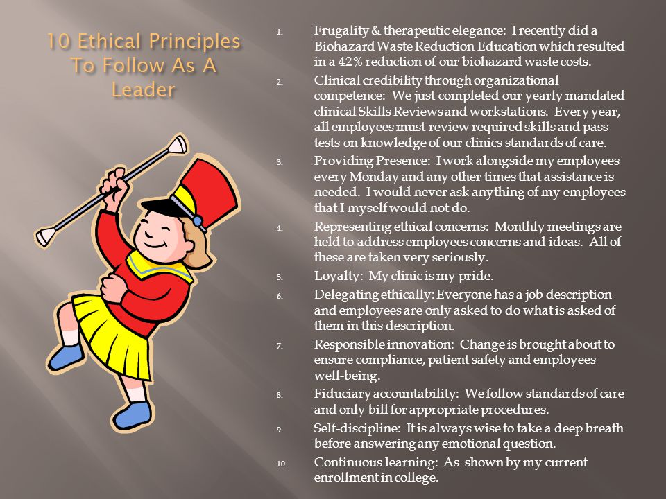10 Ethical Principles To Follow As A Leader