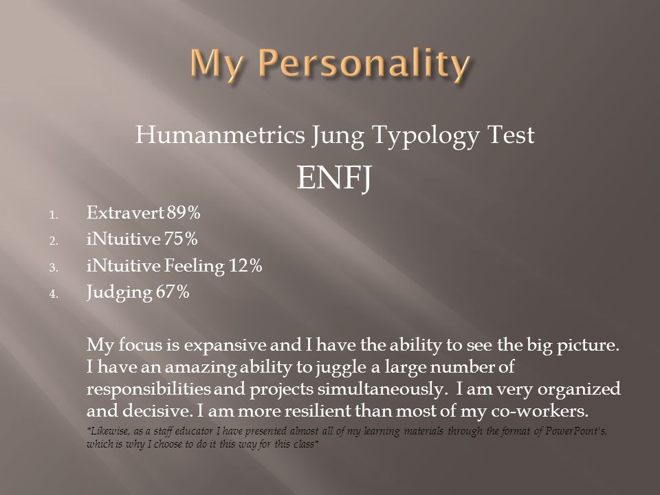 Humanmetrics Jung Typology Test