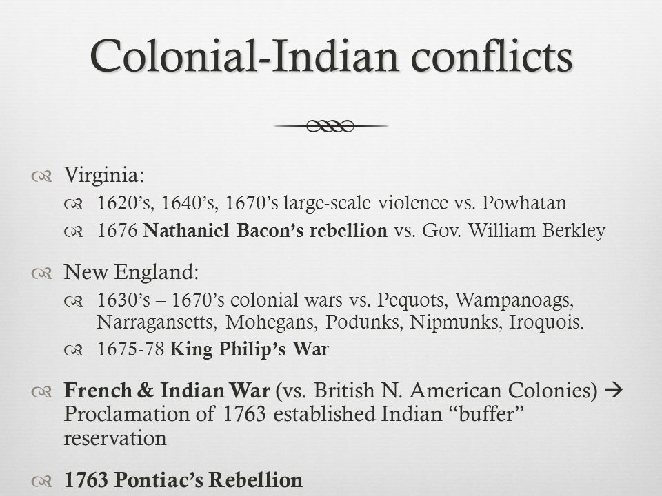 Colonial-Indian conflicts
